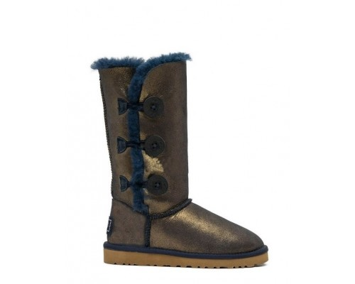 UGG BAILEY BUTTON TRIPLET II BOOT NAVY/GOLD