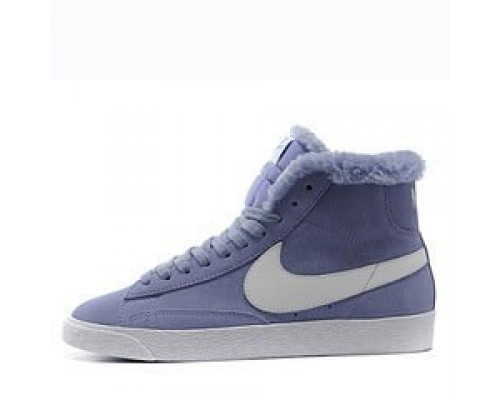 Кроссовки Nike Dunk Hight Purple С МЕХОМ