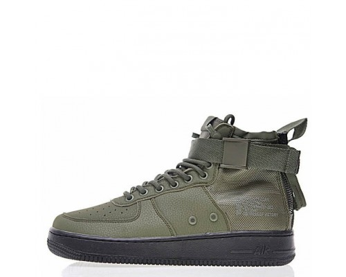 Кроссовки Nike SF Air Force 1 Utility Mid Haki/Black